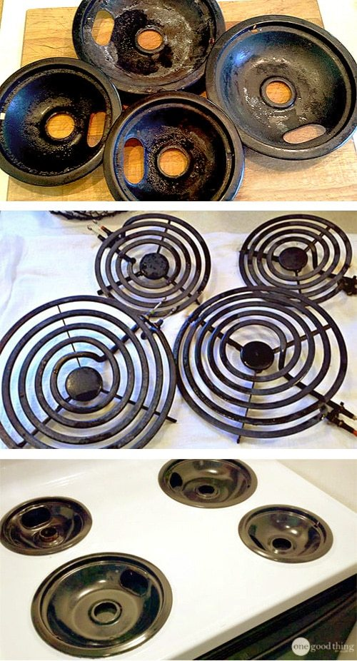 Hack #87: Clean your nasty stove burners with hydrogen peroxide and baking soda