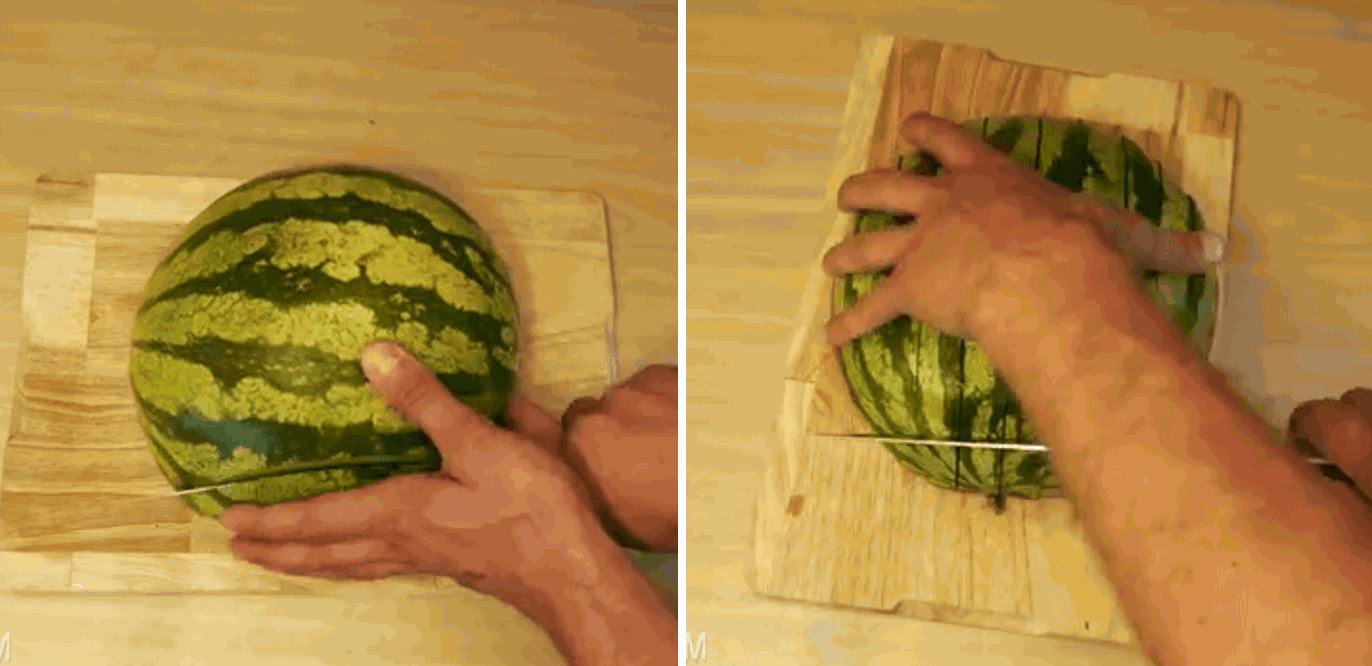 Hack #22: An easy way to cut a watermelon without a mess