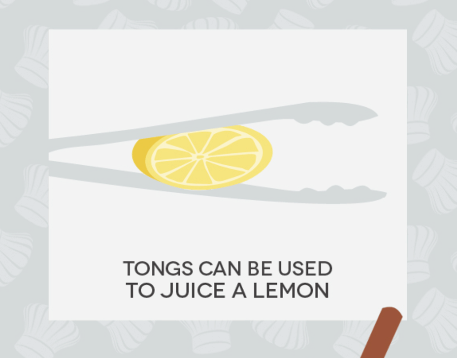 Hack #30: Make lemons tap out with tongs