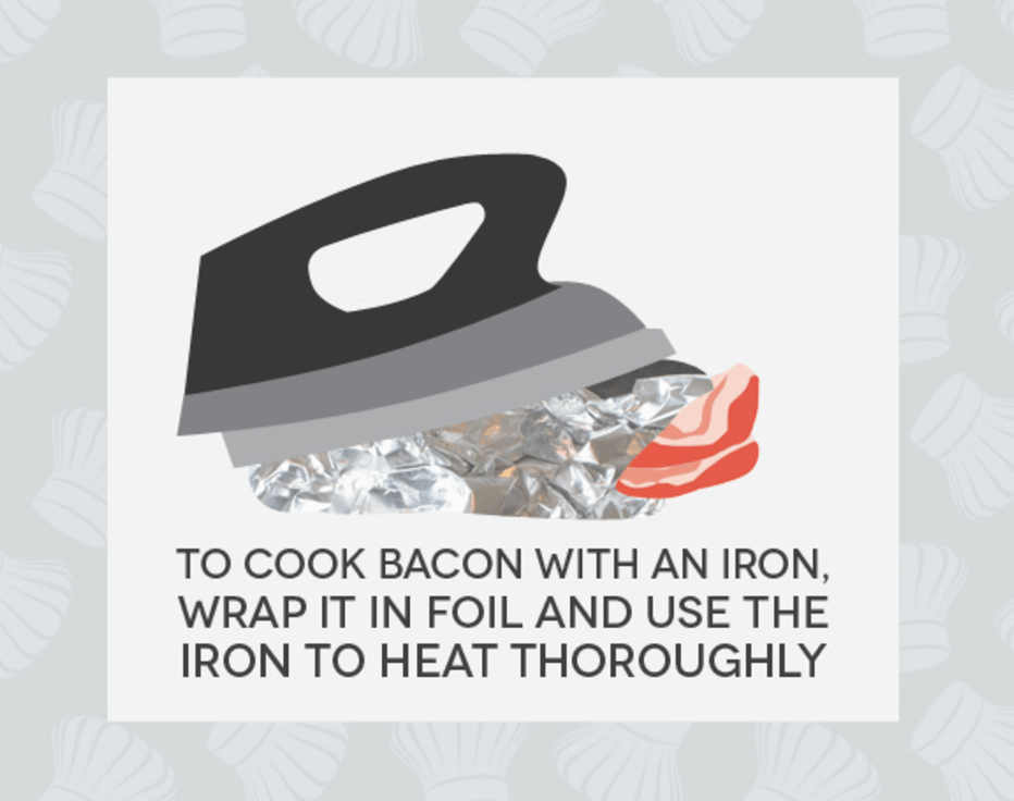 Hack #38: Cook bacon in your hotel room with the iron or coffee maker