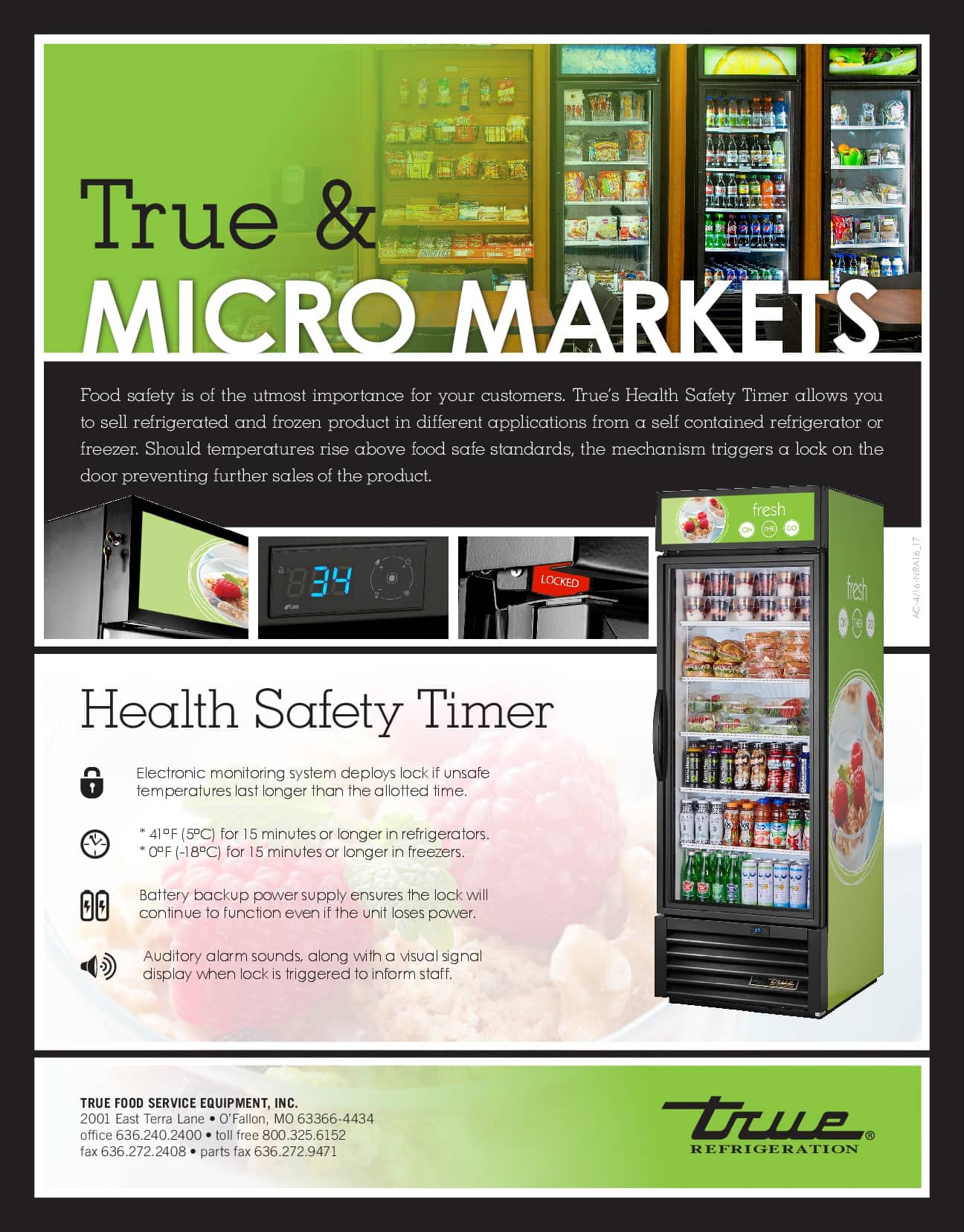 True Manufacturing's Health Safety Timer Models Infographic