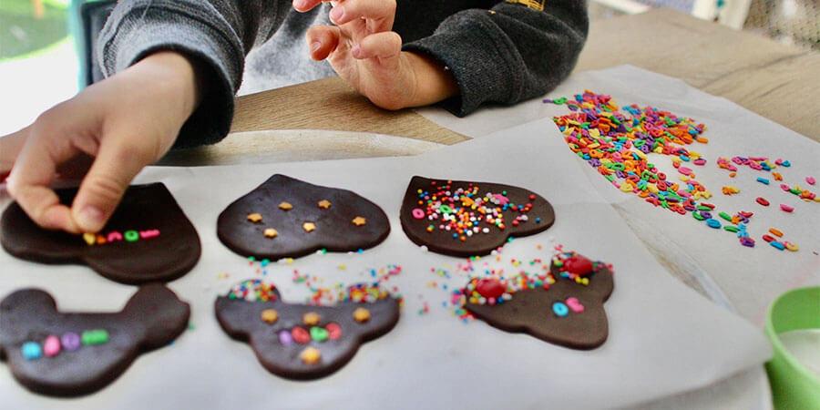 Kid Making Dessert