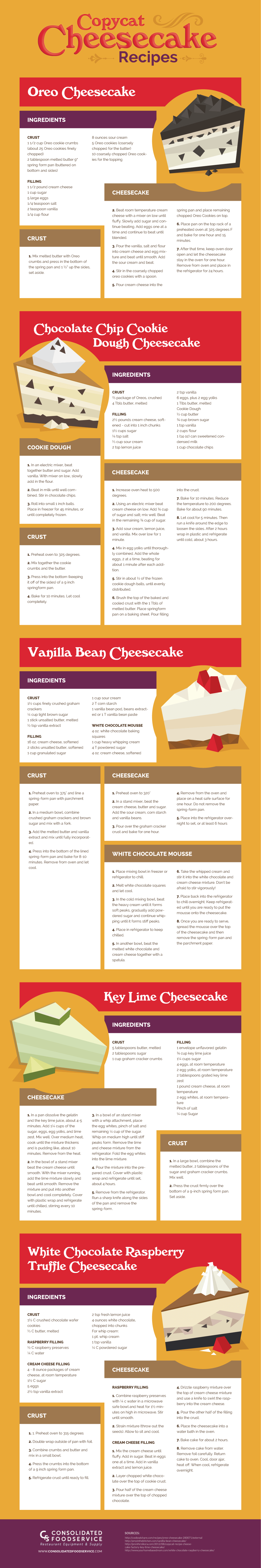 Cheesecake Factory Copycat Recipes Infographic