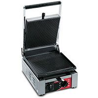 Sirman ELIO-220 2,100 Watt Panini Sandwich Grill, Single, Ribbed Top & Flat Bottom