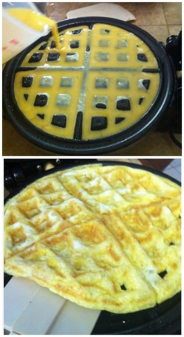 Hack #29: Use your waffle iron to cook eggs
