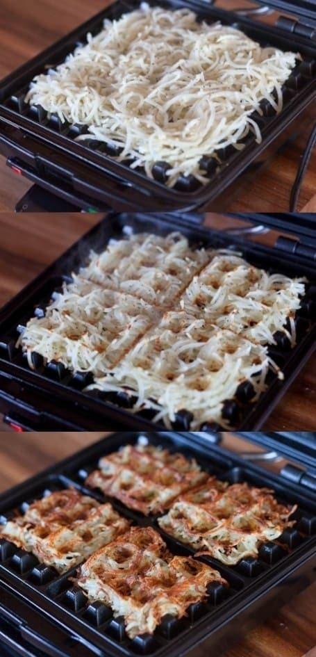 Hack #35: Make hash browns with a waffle iron