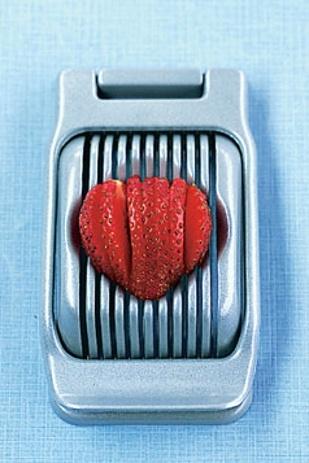 Hack #103: Slice strawberries with an egg slicer