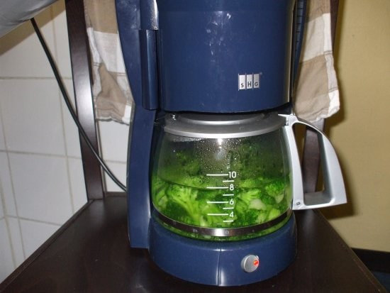 Hack #98: A coffee maker can boil vegetables