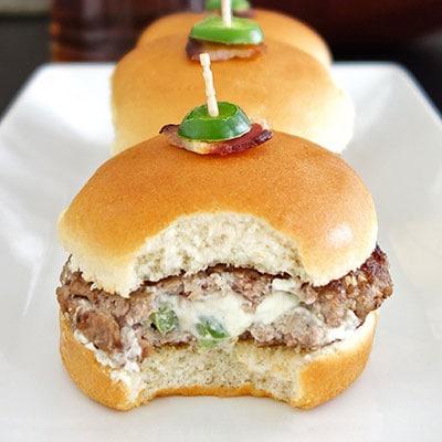 Jalepeno Popper Hamburger