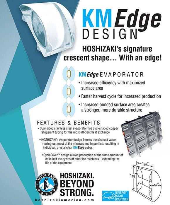 Hoshizaki KMEdge Crescent Ice Cube & Evaporator Design