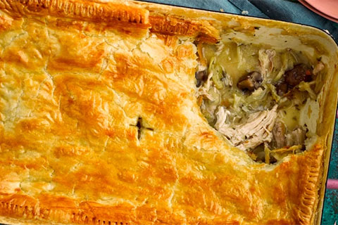 Leftover Roast Chicken Pie