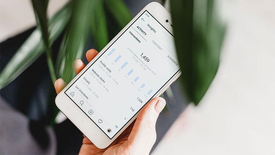 Marketing Insights Displayed On Phone