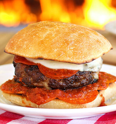 Meat Lover's Pizza Burger
