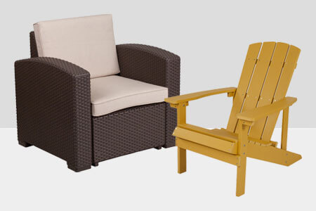 Outdoor Restaurant Patio Lounge Chairs & Sling Chairs