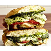 Turkey, Mozzarella, and Kale Pesto Panini