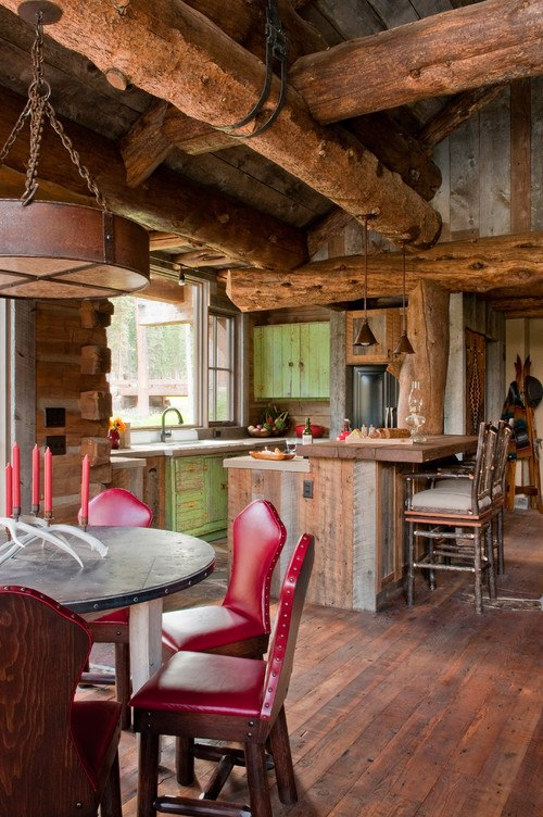 Rustic Kitchen by Big Sky Architects & Building Designers Dan Joseph Architects