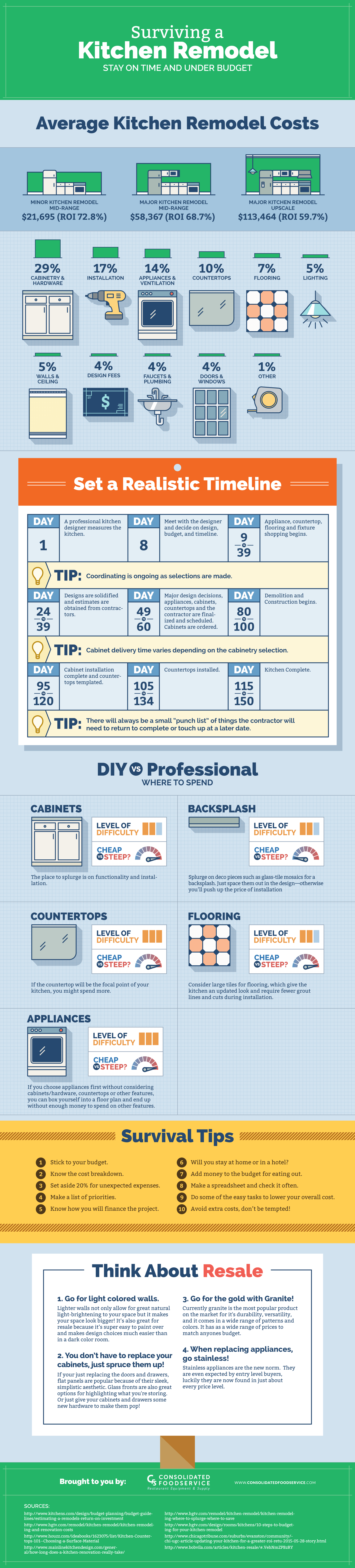 Surviving a Kitchen Remodel Infographic