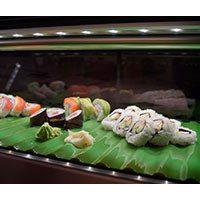 Sushi Case with Sushi