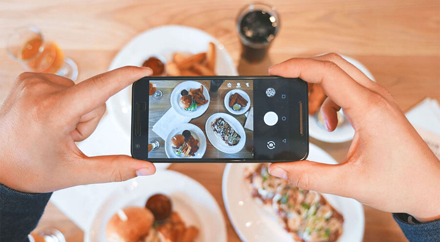 Taking Food Pictures with Phone