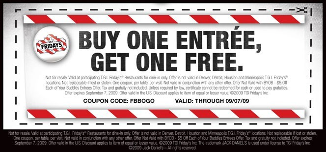 Buy one get one free coupons are a great way to get multiple customers in the door.
