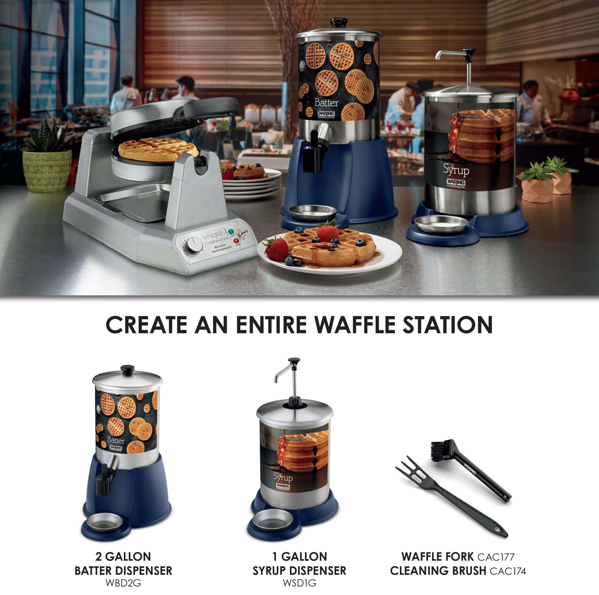 Waring - Create An Entire Waffle Station