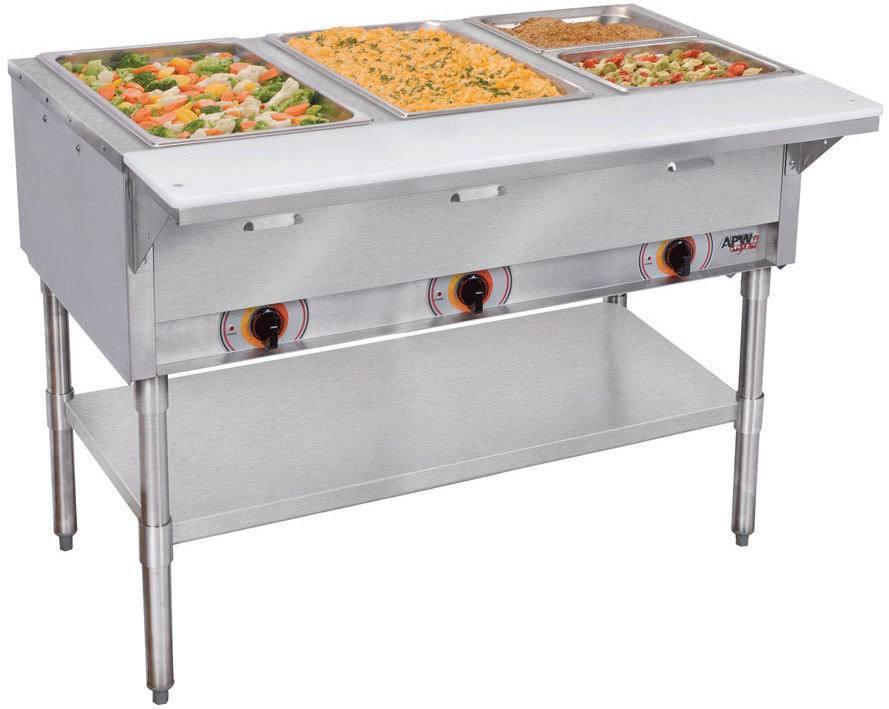 Apw Wyott Pst 208 4s 3 000 Watt Electric Steam Table Portable 4 Bay
