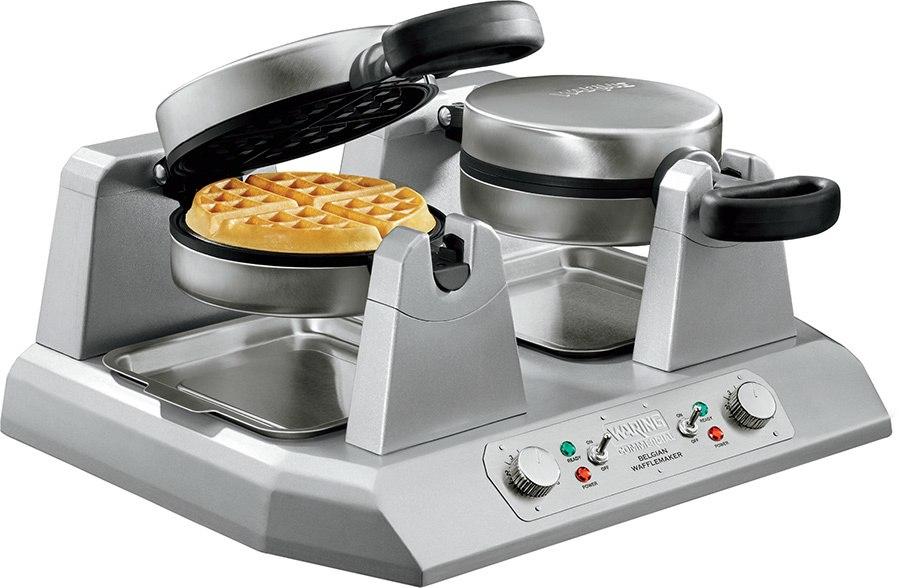 Belgian Waffle Maker Commercial Double Waring Breakfast Iron Kitchen Heavy Duty