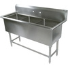 John Boos 3 Compartment Sinks